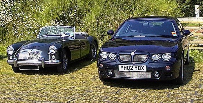 MGA alongside my ZT 160.  Taken in Cheshire, 2002.