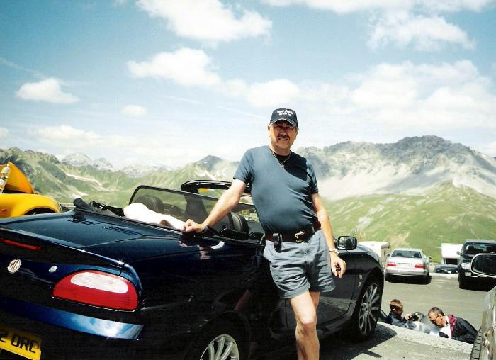 Taken at the top of the Stelvio Pass, 2nd highest in Europe, en route between Modena and Freiburg (the long way round)
