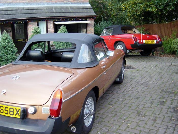 Are there any other brothers out there with two superb roadsters like these two?  One is a totally original 1981 LE and the other is a totally restored 1975 roadster. Bring on the fine weather, but the sun always shines in South Wales.