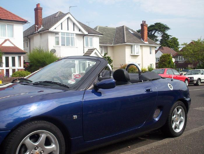 MGF fitted with new roll hoops