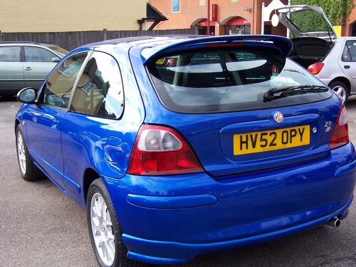 Thanking Thomas Day Motors Fleet for a lovely Trophy Blue MG ZR recently attended the MG track day at Goodwood and drove beautifully