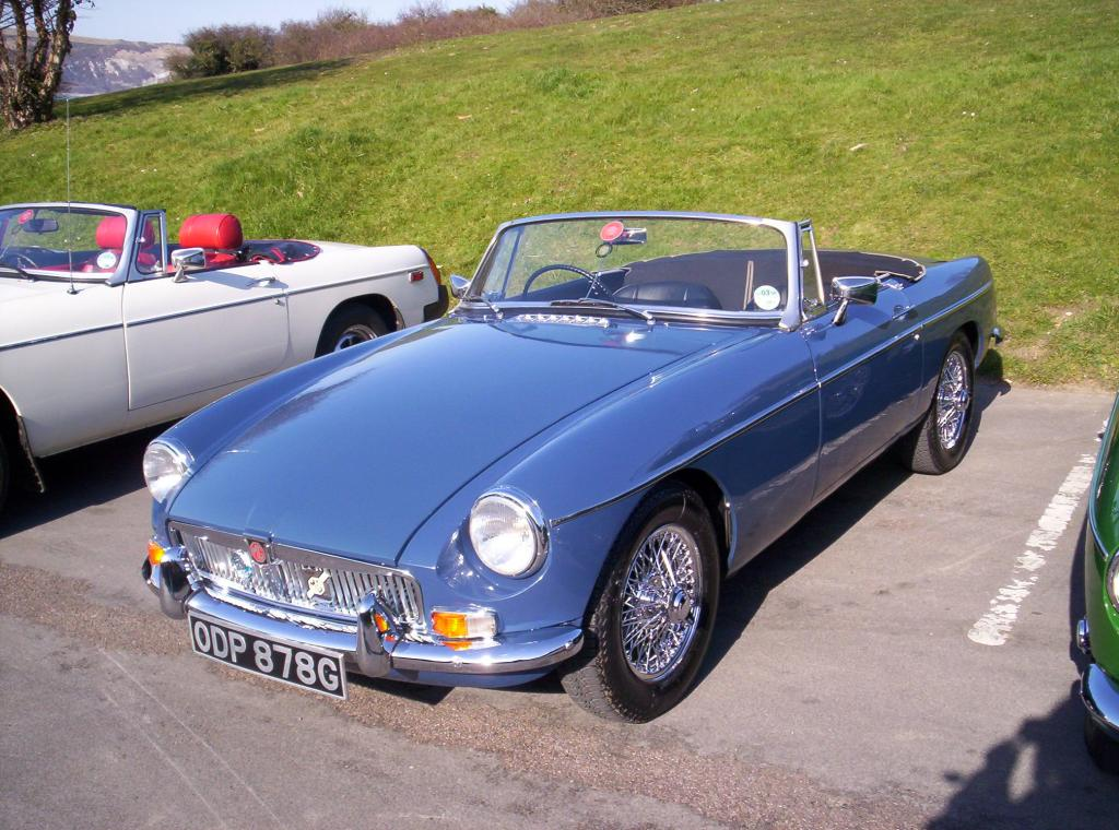 my 68 mgb after winter renovations