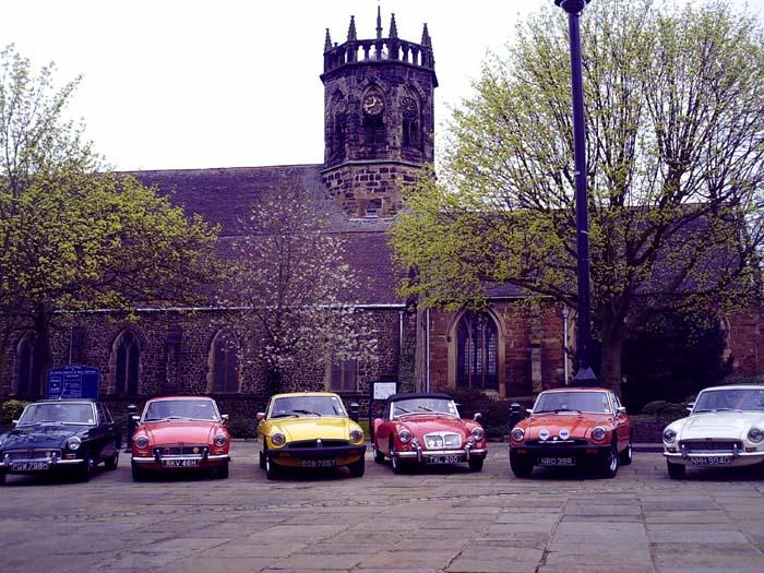 The Midlands Mafia meet up for St. Georges Day in Atherstone ... we also had a Mini, Austin 7 and Scimitar turn up for good measure!