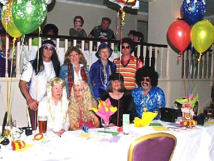 Group of partygoers at the Jersey Rally Fancy Dress Party