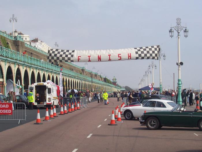 Crossing the finishing line!