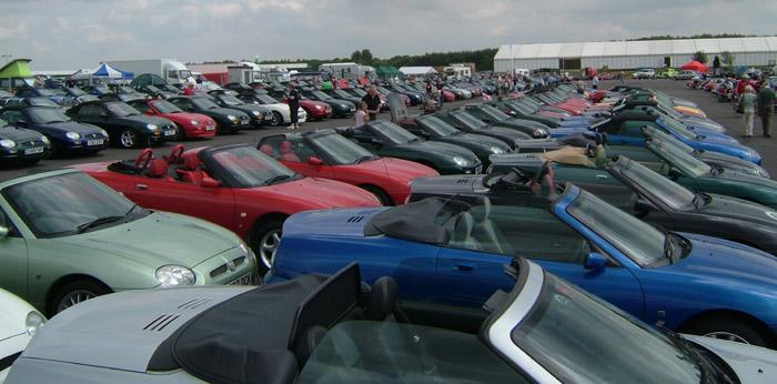 MGF's line up at Silverstone
