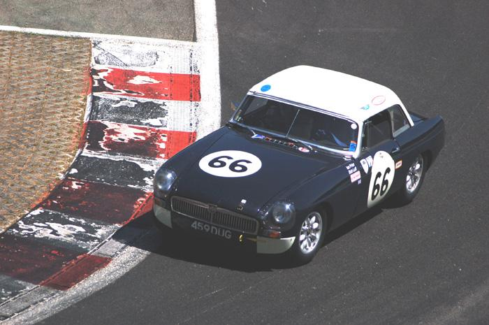 Bob Luff and Ian Prior during practice at the bus stop chicane in Spa-Francorchamps