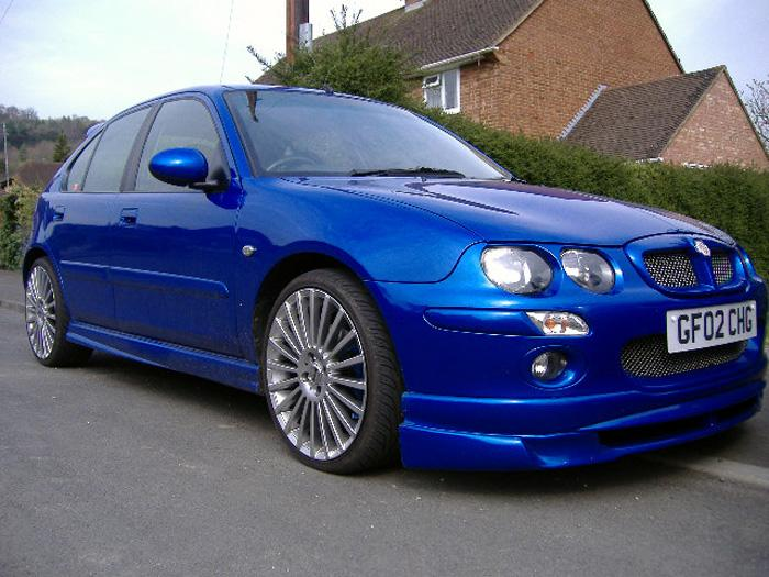 """Front splitter, rear LED lights, 18"""" wheels which are now on my ZS!"""
