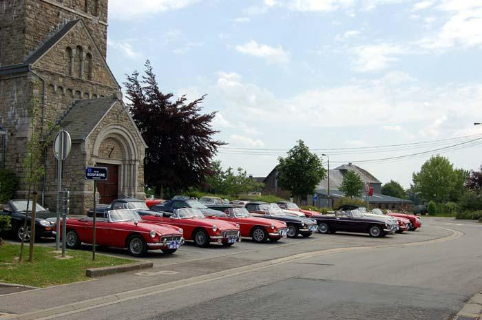 The MG church ! (But the priest was driving a....Toyota !?!? Only God can forgive !