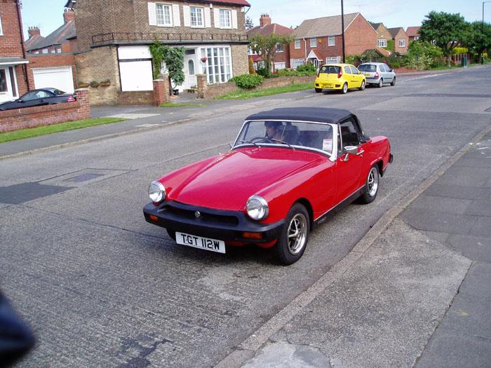 Lisa pictured with TGT 112W in 2005. It's now off the road being fully restored