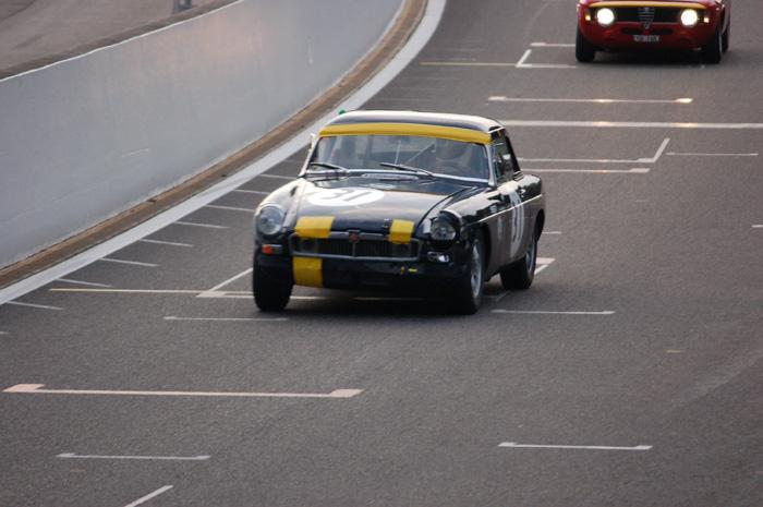 """Six Hour endurance race - Barry Sidery-Smith and partners '""""one-eyed"""" car going for the Raidillon"""