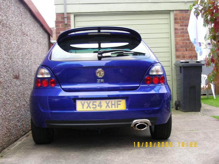 The day I fitted my new rear lights.