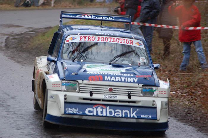 Austin Metro 6R4 driven by Xavier Bouche during RT in Creppe