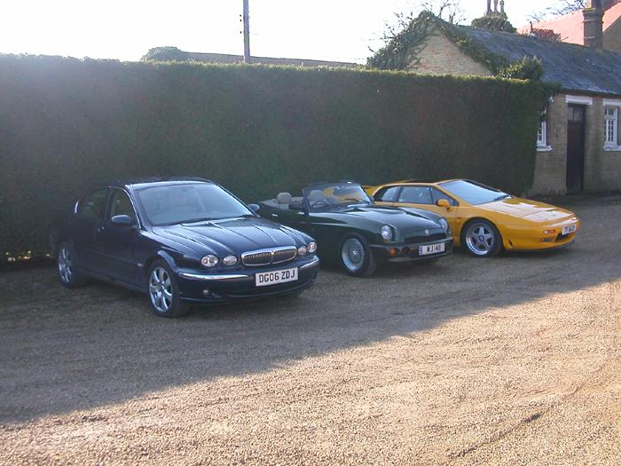 My line up of fine cars
