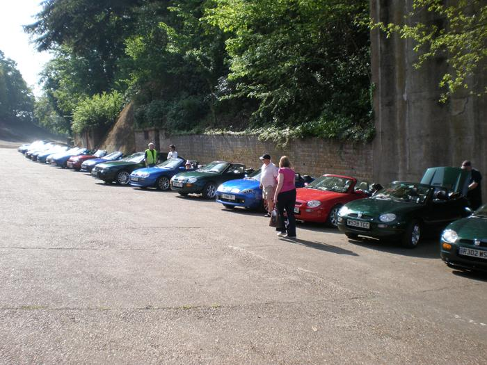 Gathering at Brooklands for the Regency Run 2008