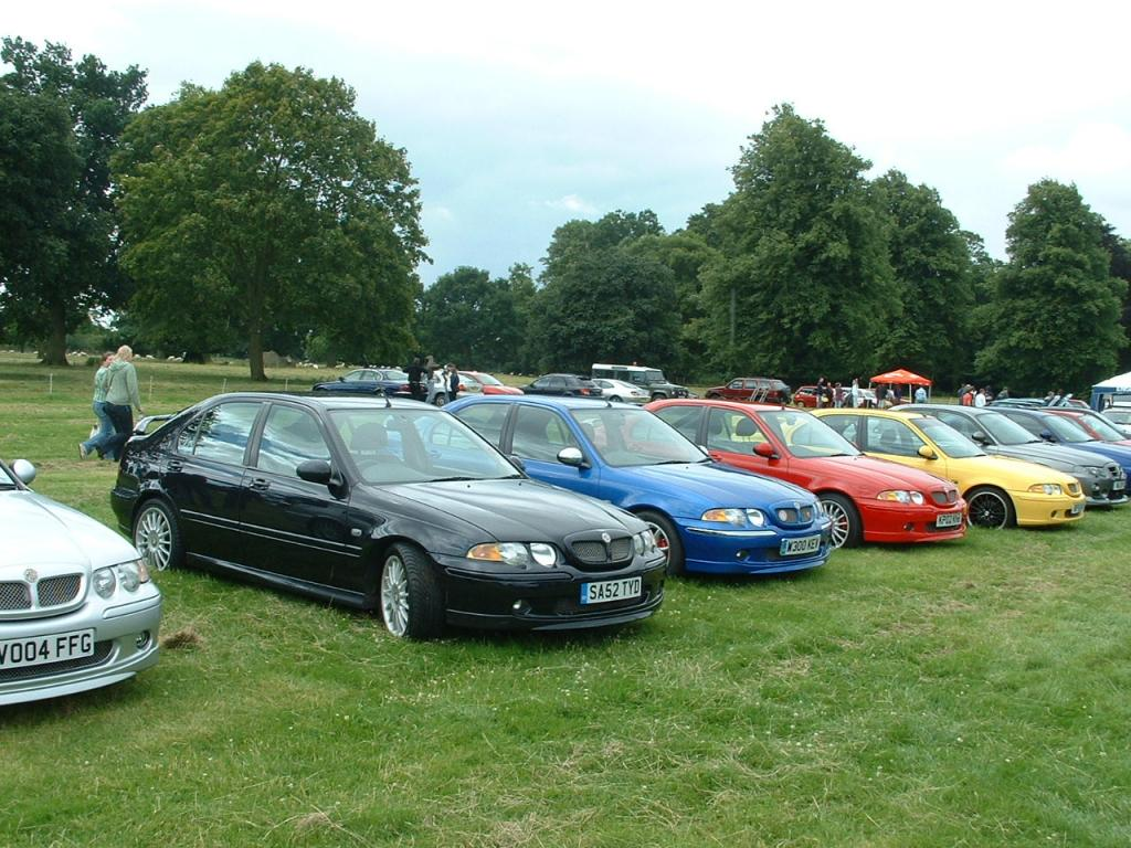 Lamport Hall 20th July. MG Saloon Car owners day. Pictured all the way from East Lothian SA52 TYD believed to have been the furthest travelled car to this event.