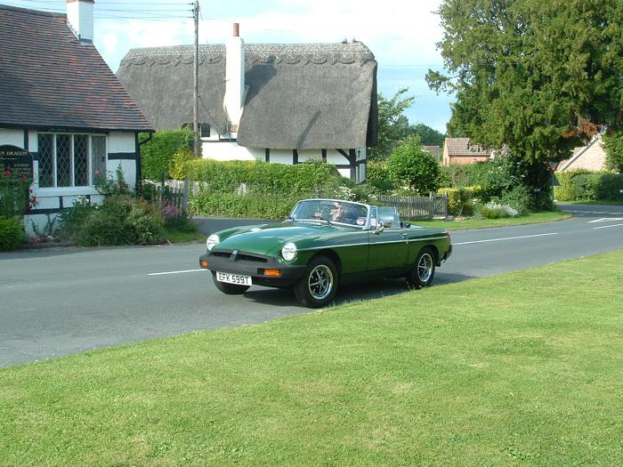 My newly acquired MGB on a recent run through Shakespeare country!(this one in Sambourne)