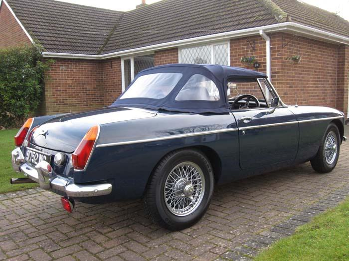 Restored 1966 MGB & supercharged - ready to go.