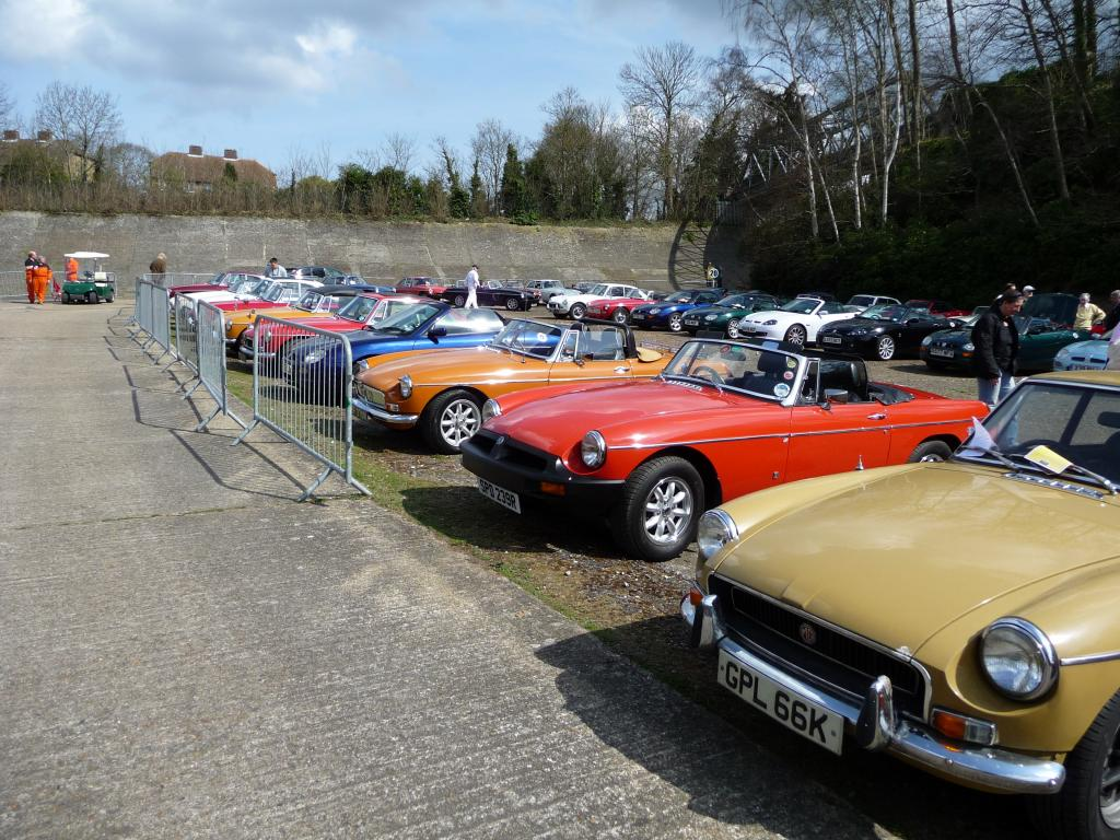 A nice line up of mgb,s