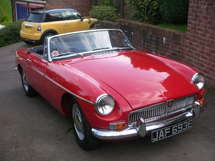 I have owned this MGB for 9 weeks. It has just had its first wash and polish. It is a bit more comfortable than the TA it replaced!