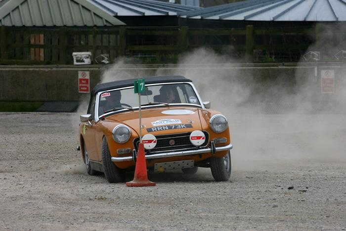 Taken on our first Historic Rally in April 2009. With my Son co-driving.1972 RWA.