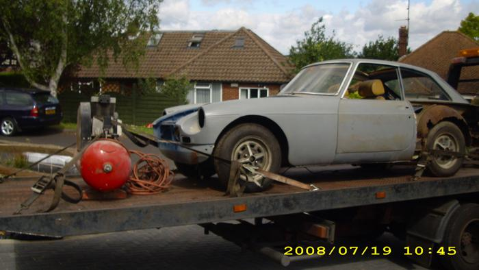 I was given this car by a friend who had abandoned it after buying it as an abandoned project. It has been off the road since 1991 but we are making steady progress. Nearly ready to re-fit the rear axle and let it stand on its back wheels again