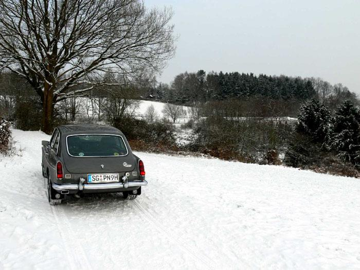Enjoying Winter January 2010 with the V8