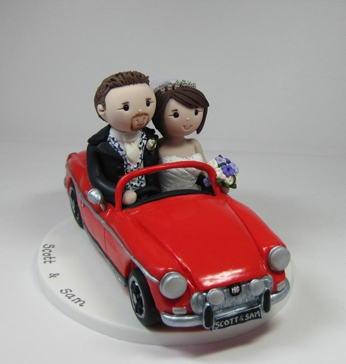 Newly Wed and Mad on our Cars My Mum and Dad had this made for our cake