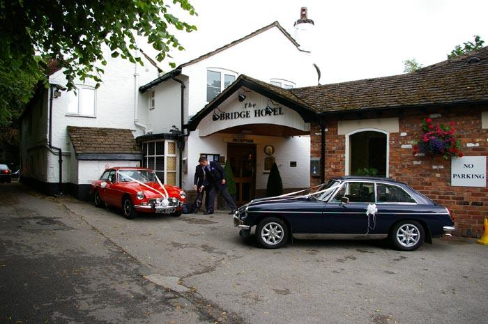 Mine (left)and Dads (Right) MG BGT's all parked up at the wedding venue July 2010