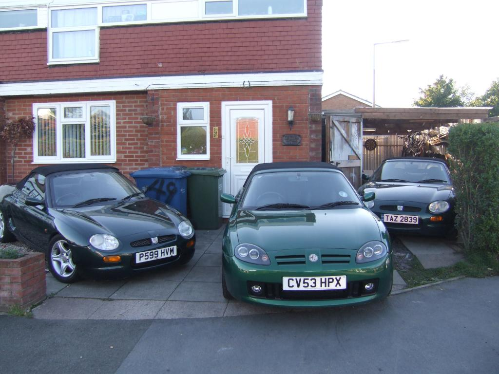 2 MGF's both sweet VVC's and a MGTF 160 in lemanns Green
