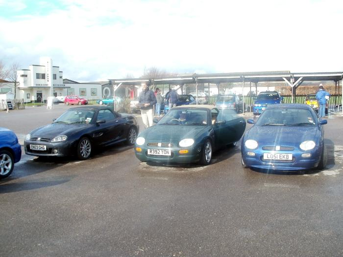My MGF Freestyle, Brother in laws MGF Abingdon and brothers TF at Goodwood