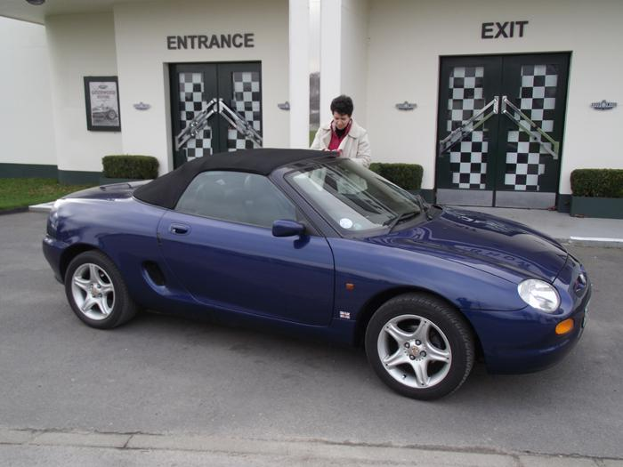Ann and the MGF (Jan 2011). I bought the MGF 2 months ago. Best £1700 I've spent.