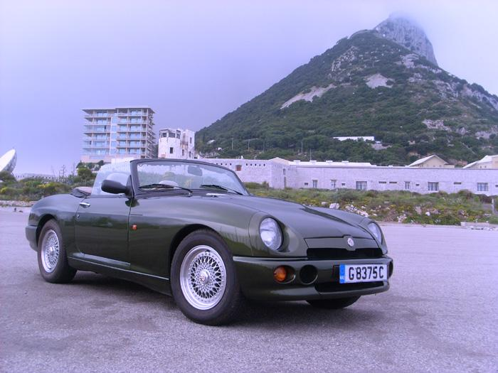 MG RV8 driven down from UK and imported into Gibraltar