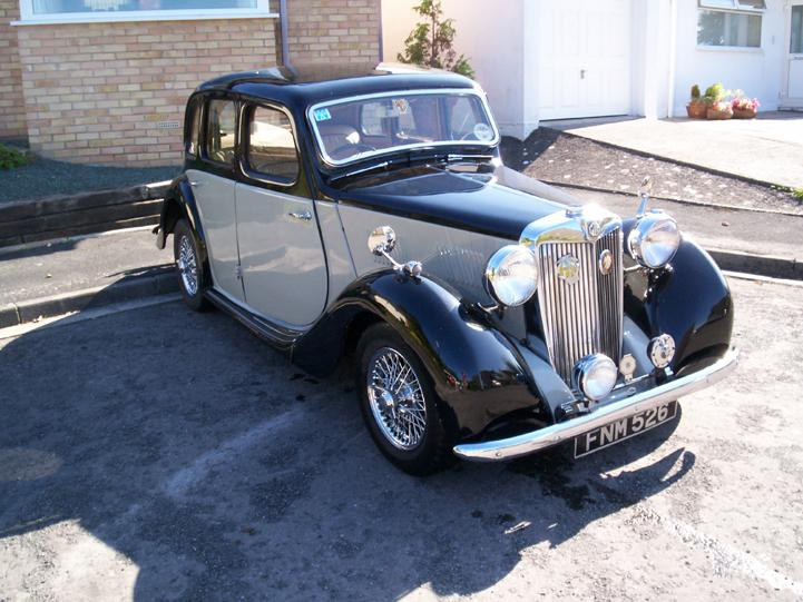 1947 MG YA with a 5 speed gear box and a few MGB bits to make it even more fun to use