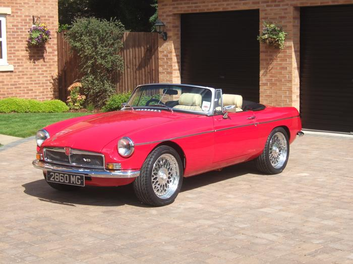 MGB fitted with V8 engine and many mods!