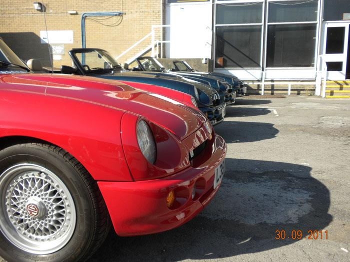 3 Caribbean Blue Rv8's and a Flame Red