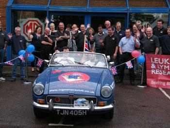 MGB Around the Sea, Will and Jon set off from the MGOC HQ..