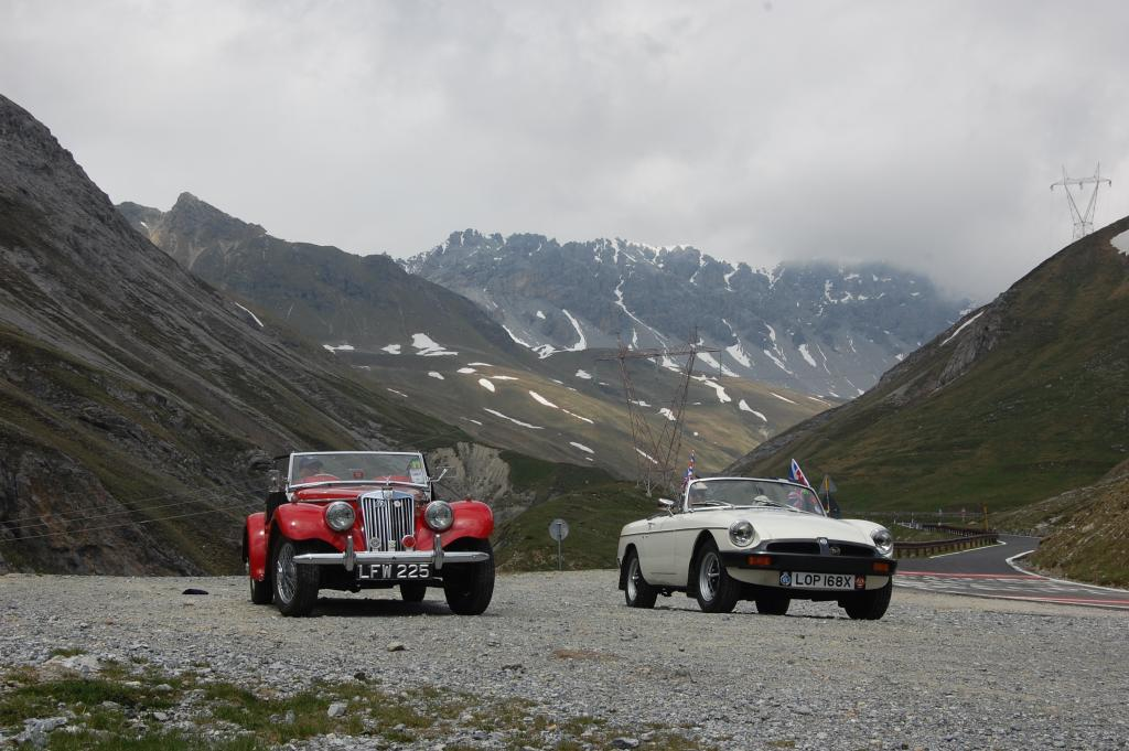 Picture shows Mike Stone's 'TF' and Ian Deverall's 'B' Roadster during a trip to the Italian Lakes in June 2012
