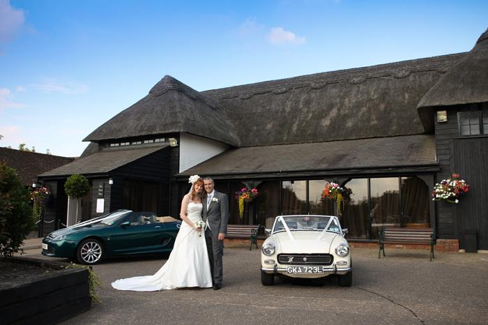 Our cars - even the Midget, made it, taking us to our Wedding - fantastic day, and photo!