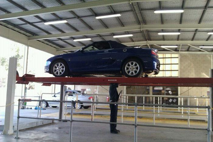 Our TF being inspected at the 'Pits' after importing it from the UK to Western Australia