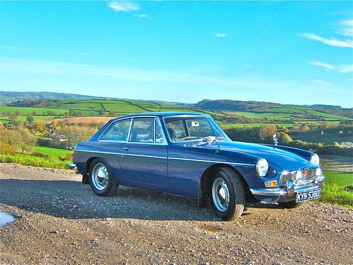My new 1966 MGB GT out in the Dorset sun on a winters afternoon