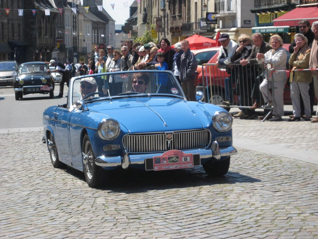 Our 1964 Midget taking part in the Fougeres Rally.