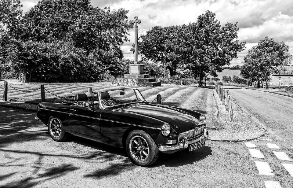 MGB Roadster at Castle Ashby