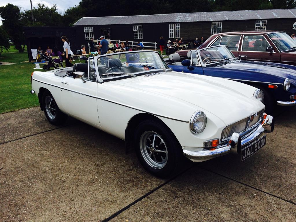 My MGB at East Kirkby AirShow